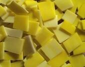 "Mosaic Tiles Tile LEMON YELLOW 1/2 - 1"" Stained Glass 100 pcs Mosaic Tile"