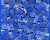 """Mosaic Tiles 1/2 - 1"""" BRIGHT SKY BLUE 100 Stained Glass Mosaic Tile"""