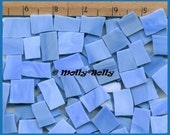 Mosaic Tile BABY BLUE 25 pcs Tiles Stained Glass