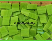 Mosaic Tiles 100 HOT LIME Stained Glass Tiles NICE Sizes Mosaic Tile