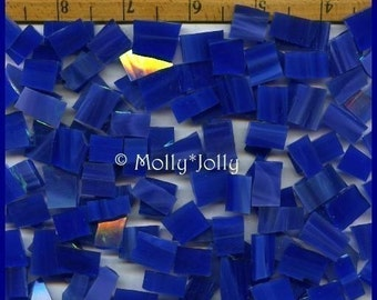 Mosaic Tile 25 pcs VIBRANT DARK BLUE Tiles Stained Glass
