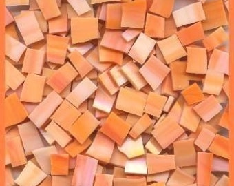 """Mosaic Tiles OH SHERBERT Orange nice sizes 1/2-1"""" Stained Glass Mosaic Tile"""