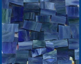 Mosaic Tiles 25 MIDNIGHT SWIRL Stained Glass Tile Mosaic Tile