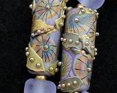 DSG Beads Handmade Organic Lampwork Glass-Lavender Made To Order