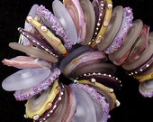 DSG Beads Handmade Organic Lampwork Glass-Made To Order (Violet Lavender Grey Discs)