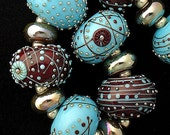 DSG Beads Handmade Organic Lampwork Glass - Made To Order (Turquoise Wonder)