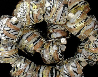 DSG Beads Handmade Organic Lampwork Glass-Tiger Opals Made To Order