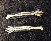 RESERVED For ZombiesGoRawr - Skeleton Arm Barrettes