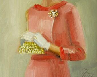 Her Best Pink Suit.  Art Print.