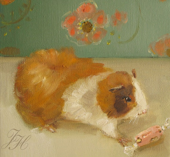 Mr. Pickles, The Guinea Pig At Black Walnut Manor Disappeared For Eleven Days, Surviving On French Nougat....- Limited Edition Print
