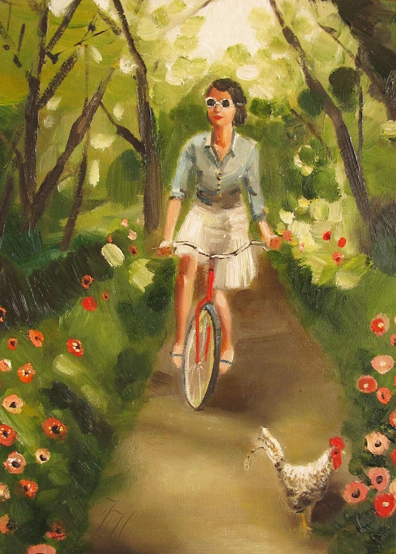 Catherine Decides To Get Some Fresh Air And Exercise- Limited Edition Print