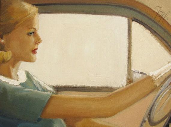 Minnie Was An Aggressive Driver- Art Print