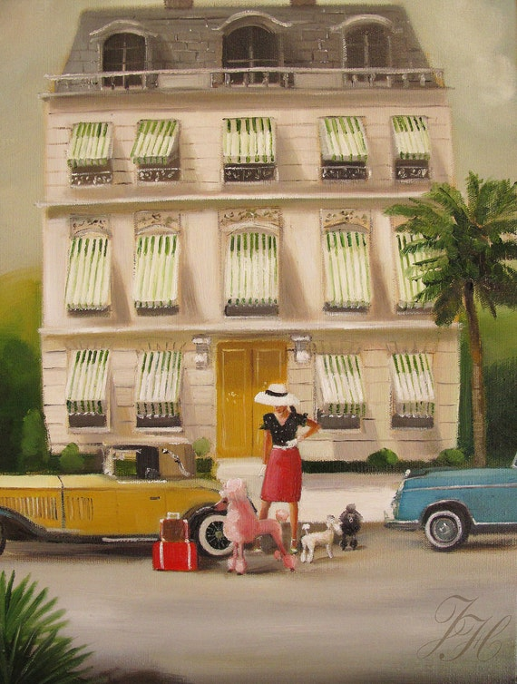 That Summer In Monte Carlo.  Art Print From Original Oil Painting