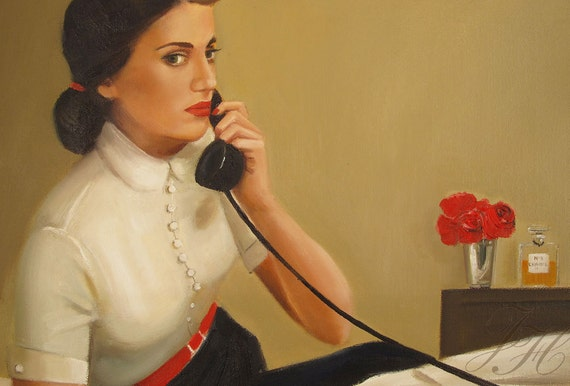 Marie Knew The Moment She Said It, She Could Never Take It Back. - Canvas Reproduction Print