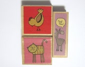 Rubber Stamps Animals Cat Bird Horse Set of 3
