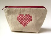 Zip purse - Red Heart