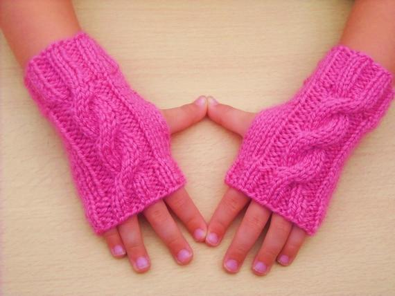 Knitting Patterns Fingerless Gloves Childrens : Instant download PDF Knitting Pattern Childrens by ...