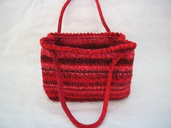PDF Knitting Pattern shoulder bag tote bag hand by bijouxboutique