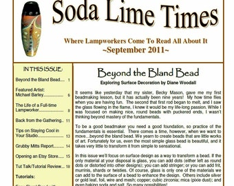 September  2011 Soda Lime Times Lampworking Magazine - by Diane Woodall