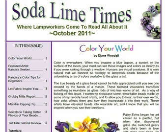 October  2011 Soda Lime Times Lampworking Magazine -  by Diane Woodall