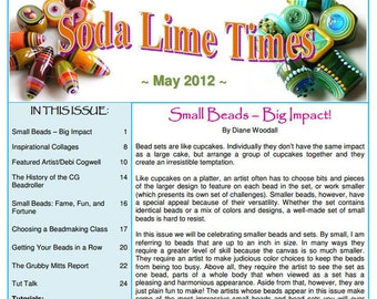 May 2012 Soda Lime Times Lampworking Magazine (PDF) -  by Diane Woodall