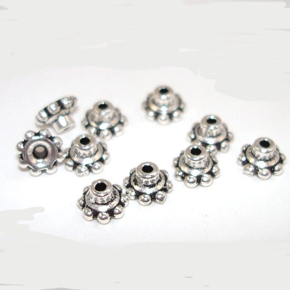 6mm BEAD ALIGNERS - The secret to perfect lampwork jewelry - 10 LEAD-FREE PEWTER