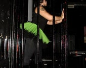 Sour Limes Green Black TuTu Skirt adult ALL SIZES MTCoffinz - mtcoffinz