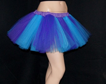 Turquoise and Dark Purple Striped Tutu adult All SIZES MTCoffinz