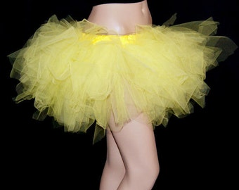 Sunshine Yellow Tattered Trashy TuTu all adult sizes MTCoffinz