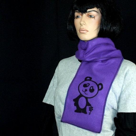 Custom Kawaii Panda Neon Fleece Scarf MTCoffinz CHOOSE your Color