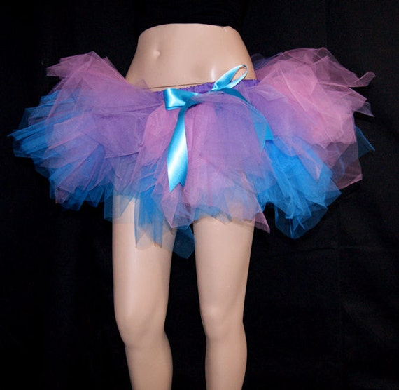 Paris Pink Turquoise Blue Kawaii Raver Trashy TuTu Skirt medium MTCoffinz --- Ready to ship