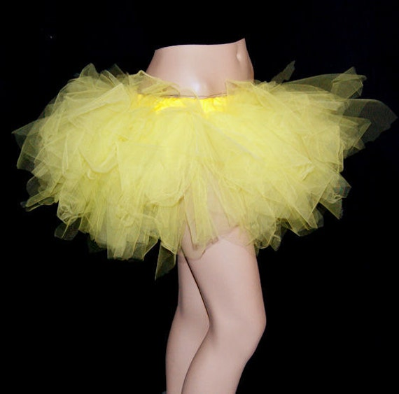 Sunshine Yellow Tattered Trashy TuTu all adult sizes MTCoffinz