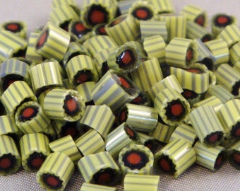 "Handmade Murrini Chips COE 104 For Lampwork Artists Halloween ""Zombie"" by Solaris Beads MB11"
