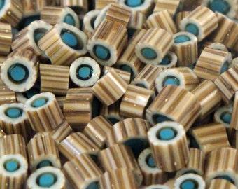 "Handmade Murrini Chips COE 104 For Lampwork Artists ""Nantucket 2"" by Solaris Beads MB17"