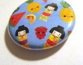 Kokeshi Fruit Salad 1 inch button