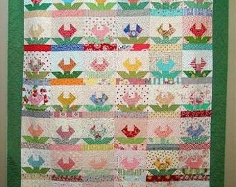 Freda's Flowers Quilt Pattern - PDF download