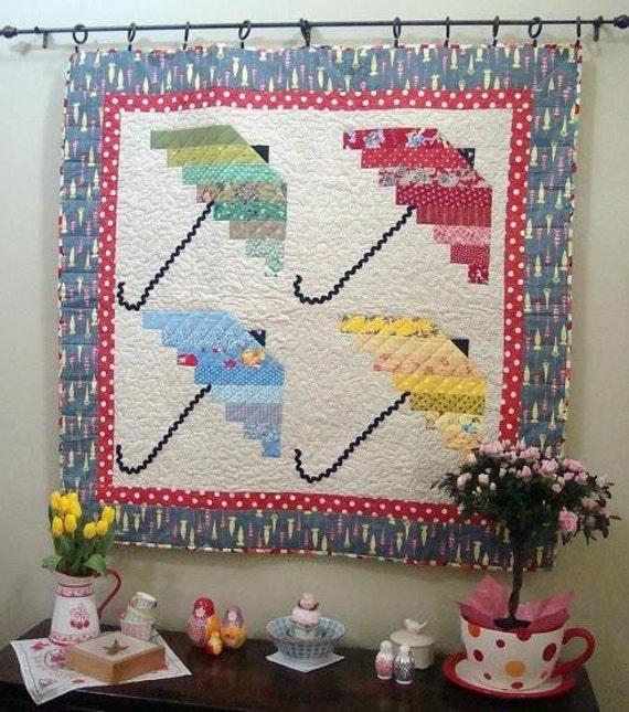 Spring Showers 4 Umbrella Quilt Pattern Pdf Download Only