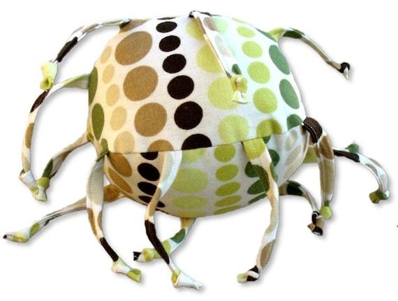 Retro Dots ZadyBall(TM) - Brown, Green, White
