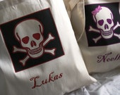 Eco friendly Trick or Treat Bags--- Pirate Party Favor Tote Bags