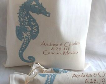 Destination Wedding Totes- Seahorse