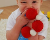 Musical Felted Infant\/Child's Rattle