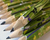 mini hand-wrapped japanese pencils - set of 10 - fanciful flight
