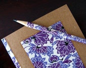 LIMITED EDITION journal made from recycled materials and japanese paper - notebook and pencil set - vibrant lotus (purple)