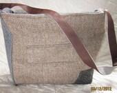 SALE--65% OFF  Recycled Repurposed Vintage Suit Bag