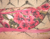 Recycled Fanny Pack from vintage floral tablecloth