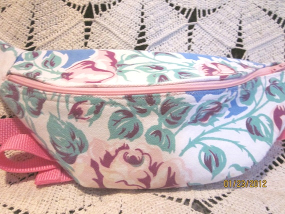 SALE--HALF PRICE  Recycled Tablecloth Fanny Pack