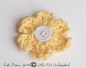 Yellow Wishing For Spring crochet Flower hair clip