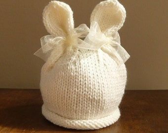 NEW - Infant Bunny Hat Beanie Easter Halloween Costume Photo Prop Rabbit