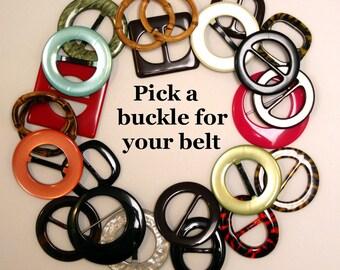 Buckle options for Fashionably Lauren Belts