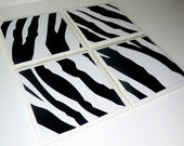 SUPER SALE - Zebra Coaster Set of Four